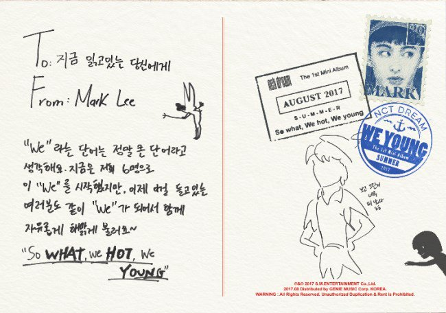 Mark《We Young》明信片